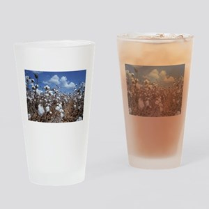 Cotton Field Drinking Glass