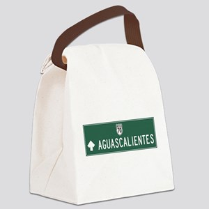 Aguascalientes Highway Sign (MX) Canvas Lunch Bag