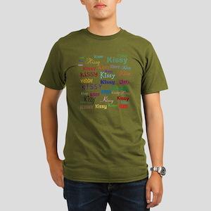 KISSY,KISSY,KISSY,KIS Organic Men's T-Shirt (dark)