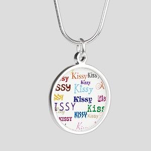 KISSY,KISSY,KISSY,KISSY. RES Silver Round Necklace