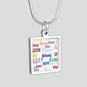 KISSY,KISSY,KISSY,KISSY. R Silver Square Necklace
