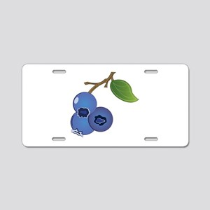 Blueberries Aluminum License Plate