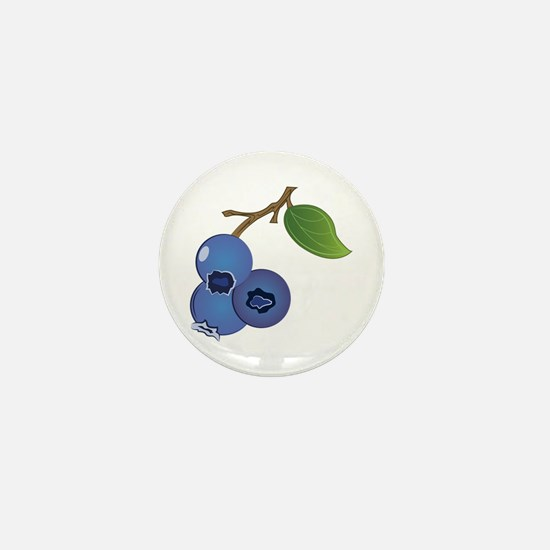 Blueberries Mini Button