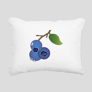 Blueberries Rectangular Canvas Pillow