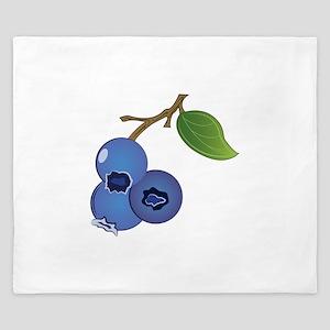 Blueberries King Duvet