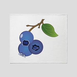 Blueberries Throw Blanket