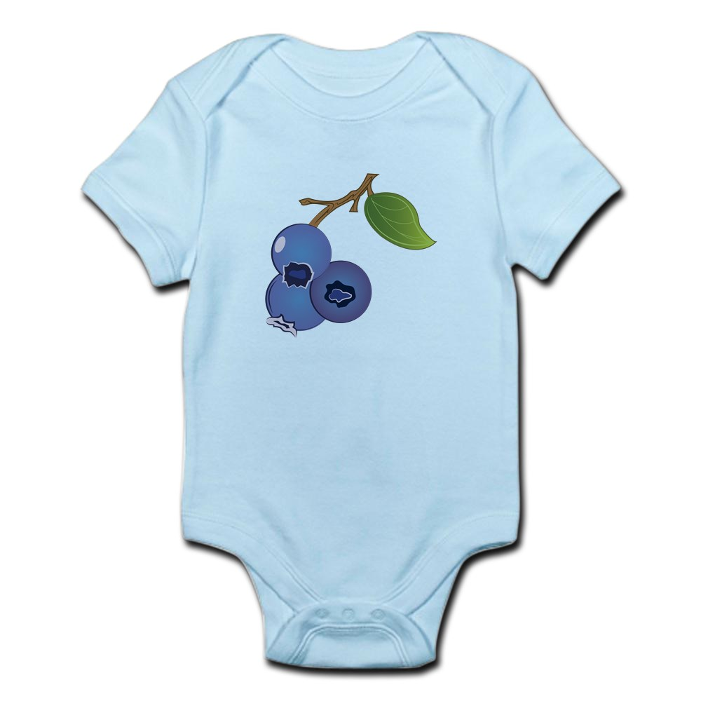 CafePress-Blueberries-Body-Suit-Cute-Infant-Bodysuit-Baby-Romper thumbnail 13