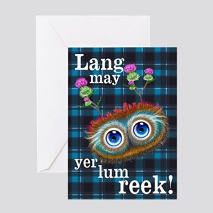 Hoots Toots Haggis. Scottish Sayings Greeting Card