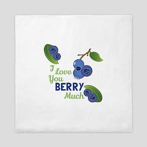 Love You Berry Much Queen Duvet