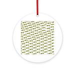 Amazon Freshwater Puffer fish Pattern Ornament (Ro