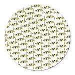 Amazon Freshwater Puffer fish Pattern Round Car Ma