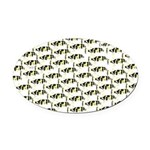 Amazon Freshwater Puffer fish Pattern Oval Car Mag