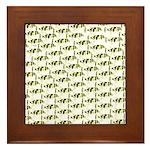 Amazon Freshwater Puffer fish Pattern Framed Tile