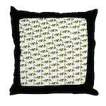 Amazon Freshwater Puffer fish Pattern Throw Pillow