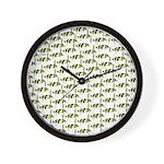 Amazon Freshwater Puffer fish Pattern Wall Clock