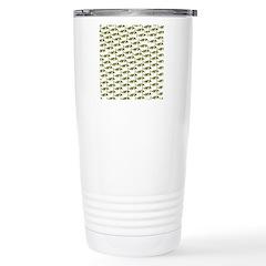 Amazon Freshwater Puffer fish Pattern Travel Mug