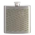Amazon Freshwater Puffer fish Pattern Flask