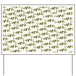 Amazon Freshwater Puffer fish Pattern Yard Sign