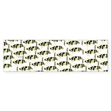Amazon Freshwater Puffer fish Pattern Bumper Stick