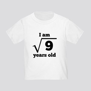 3rd Birthday Square Root T-Shirt