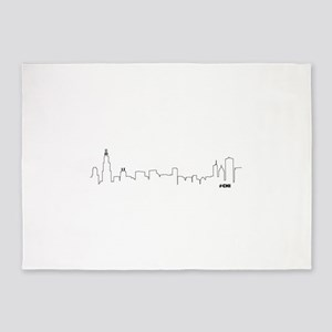 CHICAGO SKYLINE #CHI 5'x7'Area Rug