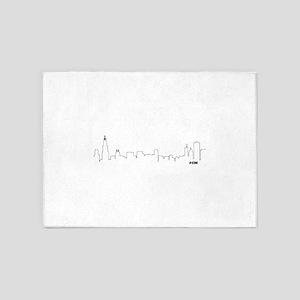 CHICAGO SKYLINE #CHI 5'x7'Area Rug
