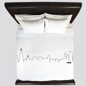 CHICAGO SKYLINE #CHI King Duvet