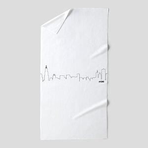 CHICAGO SKYLINE #CHI Beach Towel