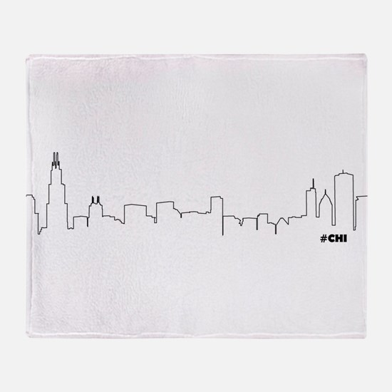 CHICAGO SKYLINE #CHI Throw Blanket