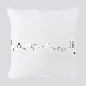 CHICAGO SKYLINE #CHI Woven Throw Pillow