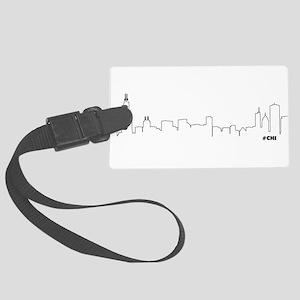 CHICAGO SKYLINE #CHI Large Luggage Tag