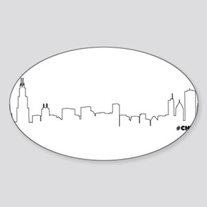 CHICAGO SKYLINE #CHI Sticker