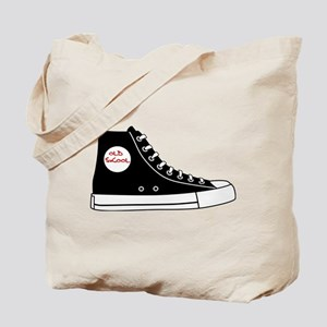 Old high top basketball sneakers Tote Bag