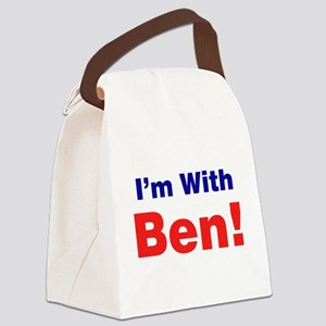 I'm With Ben Carson Canvas Lunch Bag