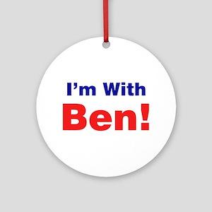 I'm With Ben Carson Ornament (Round)