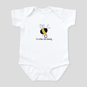 i'd rather bee beading Infant Bodysuit
