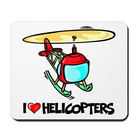 I Love Helicopter Mousepad