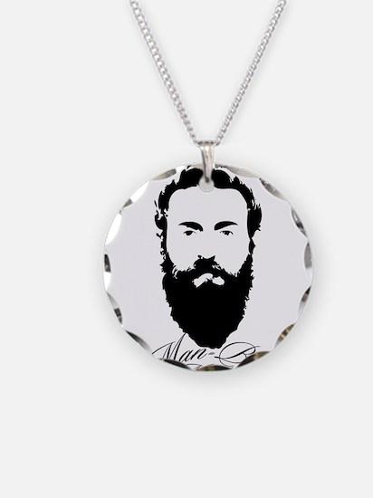 Man Bun Monday Necklace