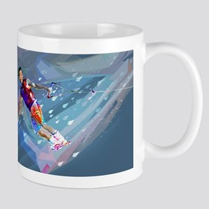 Super Crayon Colored Wakeboarding in the Lake Mugs