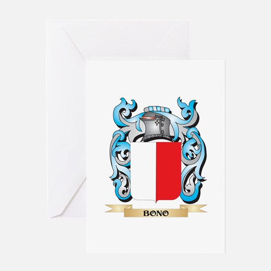 Bono Coat of Arms - Family Crest Greeting Cards