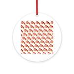 Chambered nautilus Pattern Ornament (Round)