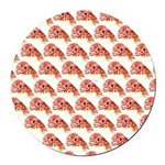 Chambered nautilus Pattern Round Car Magnet