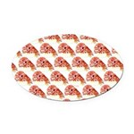Chambered nautilus Pattern Oval Car Magnet