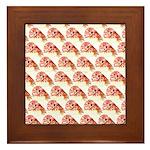 Chambered nautilus Pattern Framed Tile