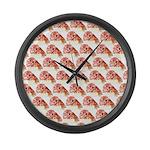 Chambered nautilus Pattern Large Wall Clock