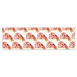 Chambered nautilus Pattern Bumper Sticker