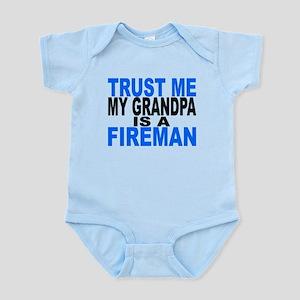 Trust Me My Grandpa Is A Fireman Body Suit