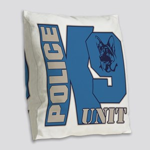 Police K9 Unit Dog Burlap Throw Pillow