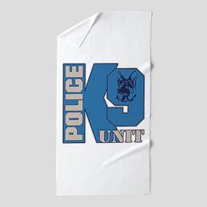 Police K9 Unit Dog Beach Towel