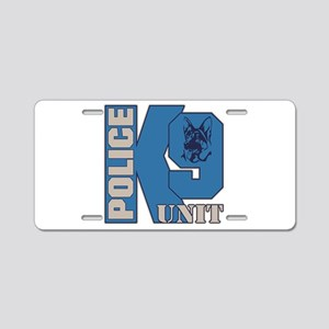 Police K9 Unit Dog Aluminum License Plate